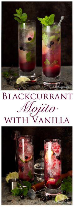 Blackcurrant Mojito with Vanilla