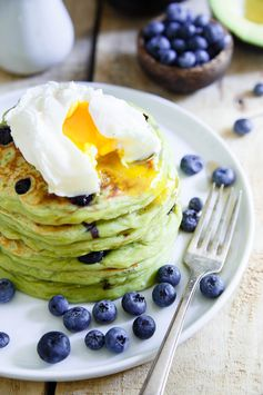 Blueberry Avocado Pancakes