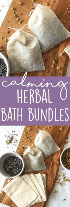 Calming Herbal Tea Bath Bundles
