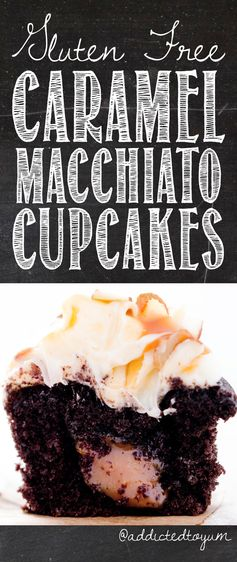 Caramel Macchiato Cupcakes with Salted Caramel Filling