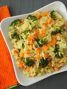 Carrot, Broccoli & Cheese Orzo