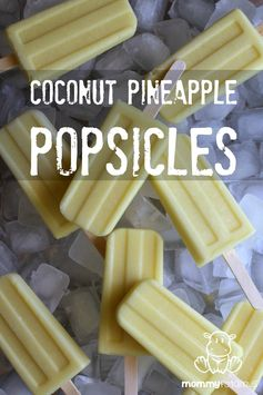Coconut and Pineapple Popsicles