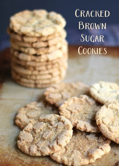 Cracked Brown Sugar Cookies