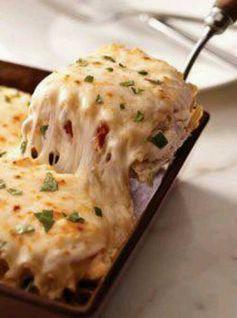 Creamy White Chicken Lasagna