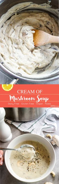 Dairy-Free Cream of Mushroom Soup (directions for condensed!