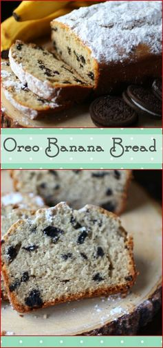 Easy Banana Bread with Oreos