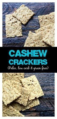 Easy Cashew Crackers (grain free
