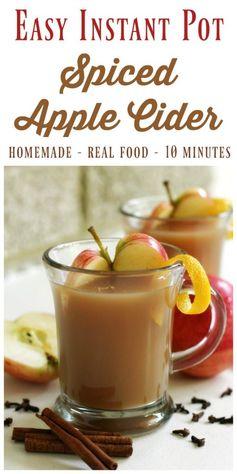 Easy Instant Pot Spiced Apple Cider