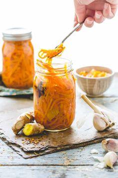 Ginger pickled carrots