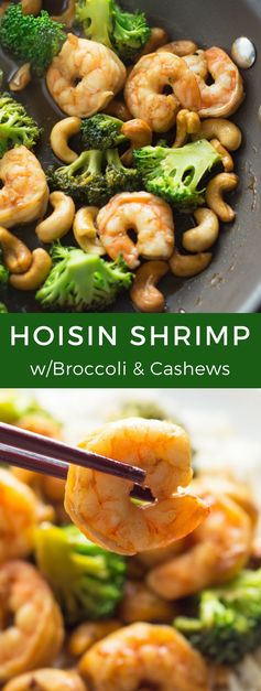 Hoisin Shrimp with Broccoli and Cashews