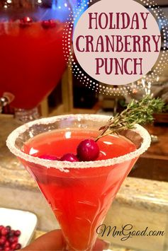 Holiday Cranberry Punch…a Drink for Adults