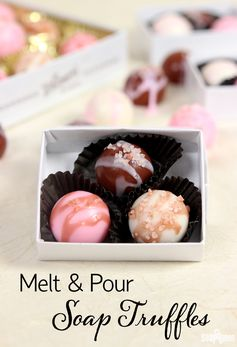 Melt and Pour Soap Truffles Tutorial