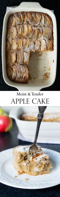 Moist & Tender Apple Cake