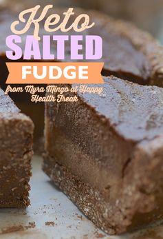 Non-Blender Keto Salted Chocolate Fudge