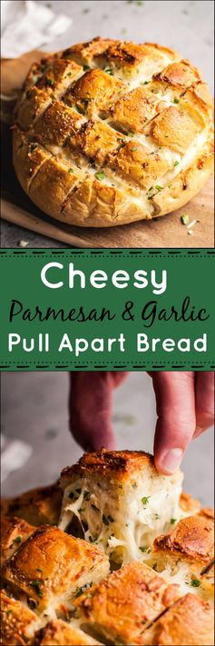 Parmesan and Garlic Butter Pull Apart Bread