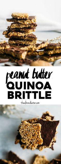 Peanut Butter Quinoa Brittle