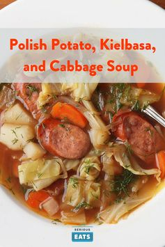 Polish Potato, Kielbasa, and Cabbage Soup (Kapusniak