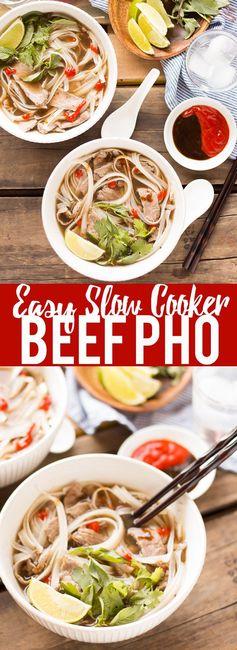 Slow Cooker Beef Pho