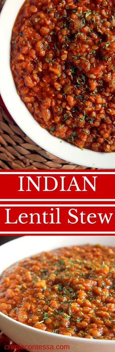 Slow Cooker Indian Lentil Stew