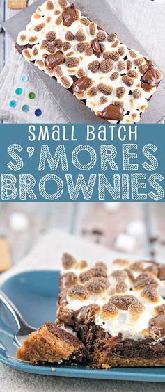 Small Batch S'mores Brownies