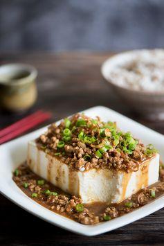 Stir Fried Pork Over Tofu