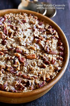 Sweet Potato Casserole with Pecan Crumb Topping