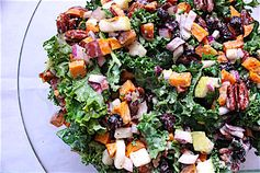 Thanksgiving Kale Salad with Maple-Lemon Tahini Dressing