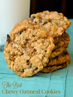 The Best Chewy Oatmeal Cookies