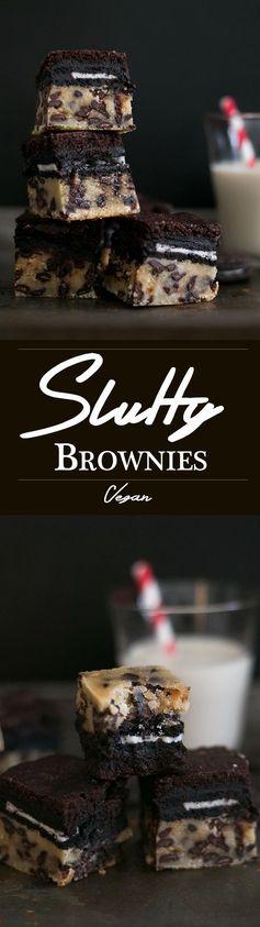 Vegan Slutty Brownies
