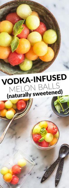 Vodka-Infused Melon Balls