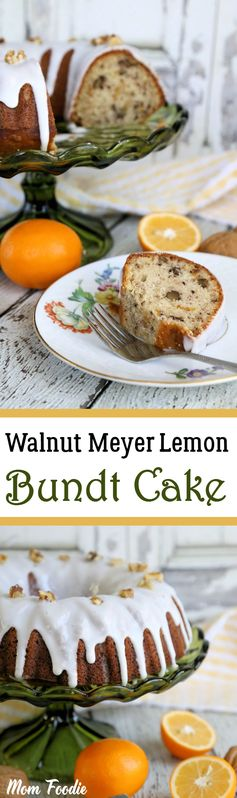 Walnut Meyer Lemon Bundt Cake