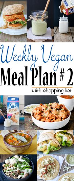 Weekly Vegan Meal Plan 2 Shopping List