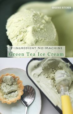 3-Ingredient Green Tea Ice Cream with No Machine No Churn Eggless