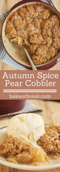 Autumn Spice Pear Cobbler