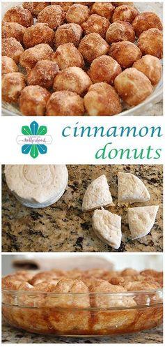 Baked Cinnamon Donut Holes