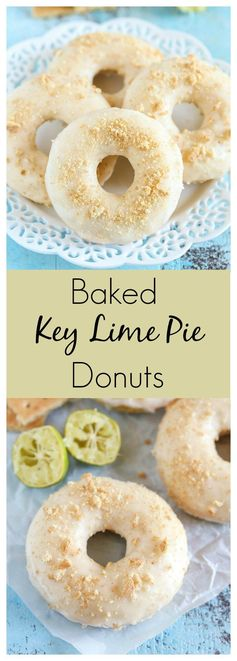Baked Key Lime Pie Donuts