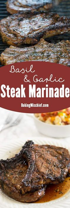 Basil and Garlic Steak Marinade