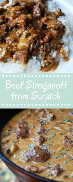 Beef Stroganoff from Scratch