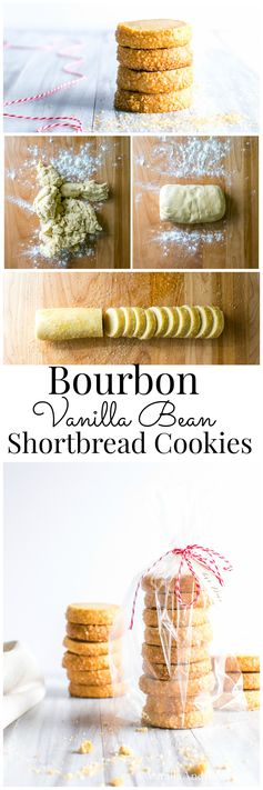 Bourbon Vanilla Bean Shortbread Cookies