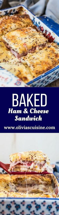 Brazilian Baked Ham and Cheese Sandwich (Bauru de Forno