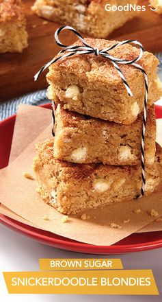 Brown Sugar Snickerdoodle Blondies