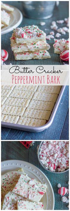 Butter Cracker Peppermint Bark