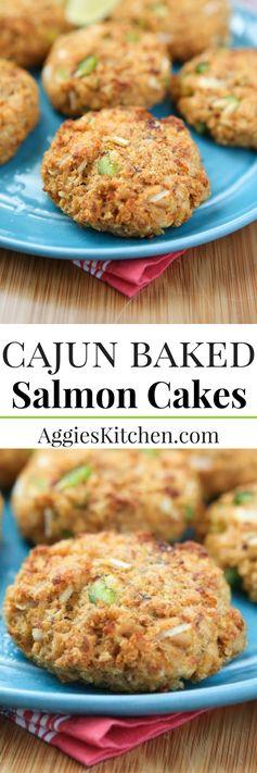 Cajun Baked Salmon Cakes