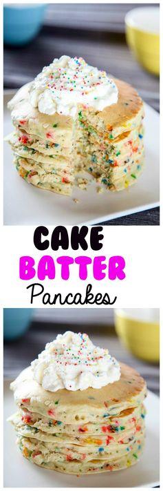 Cake Batter Funfetti Pancakes