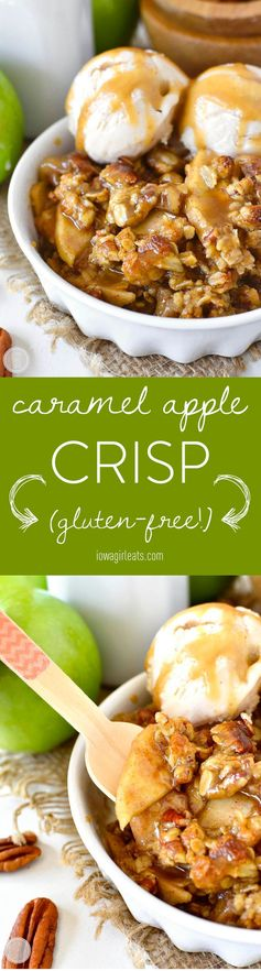 Caramel Apple Crisp with Easy Caramel Sauce