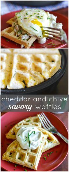 Cheddar & Chive Savory Waffles