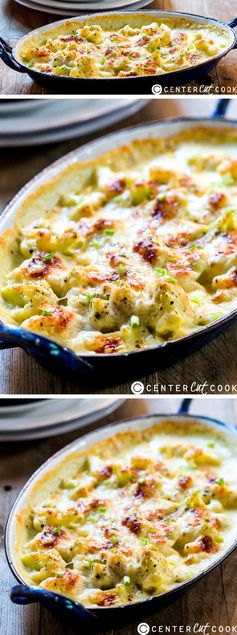 Cheesy Garlic Cauliflower Gratin
