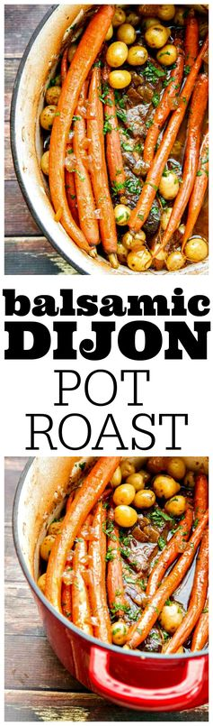 Chuck Roast with Balsamic and Dijon