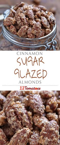 Cinnamon Sugar Glazed Almonds