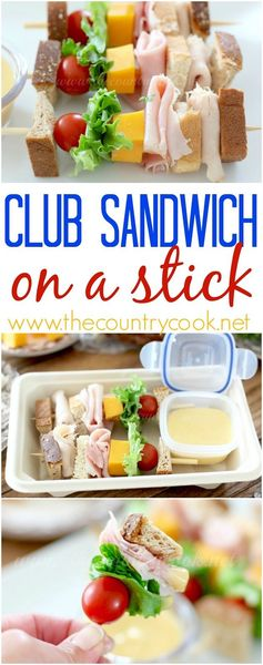 Club Sandwich on a Stick